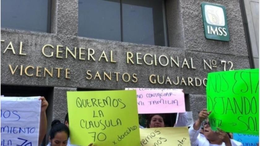 Protestan médicos de IMSS por falta de medicamentos ante Covid-19(GH)