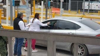 Ponen filtros sanitarios en garitas de cruce de EU a Sonora