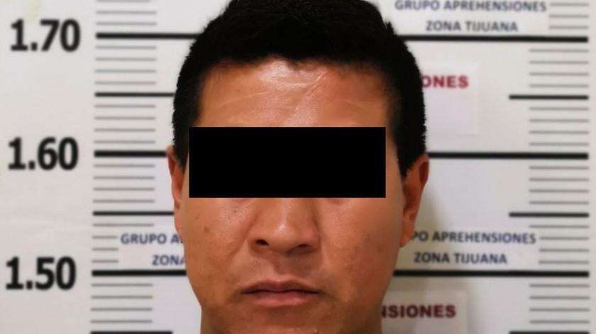 """El detenido es Jesús, """"N"""", """"El Sansón"""".(Cortesía)"""