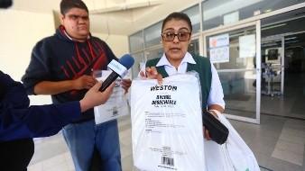Enfermera del IMSS hace donación de equipo médico para atención de Covid-19