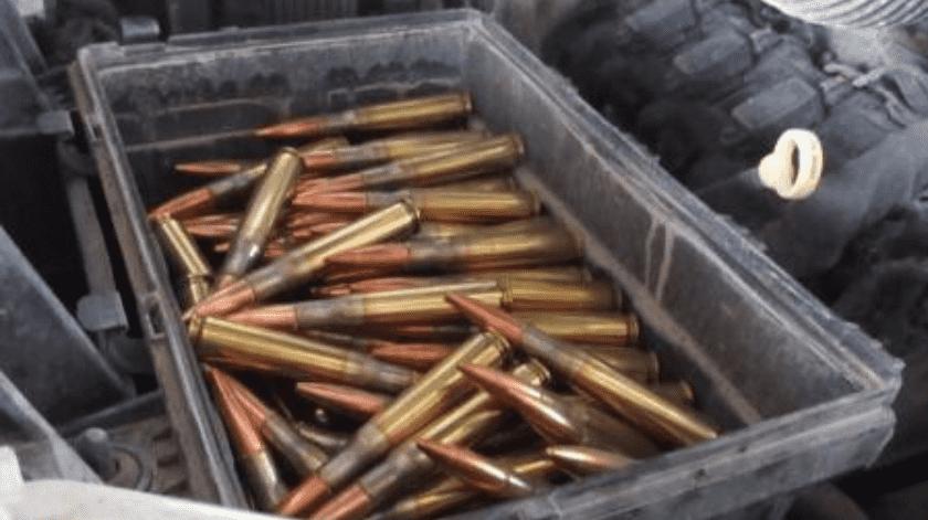 Hallan 300 cartuchos calibre 50 en garita de SLRC(Cortesía)