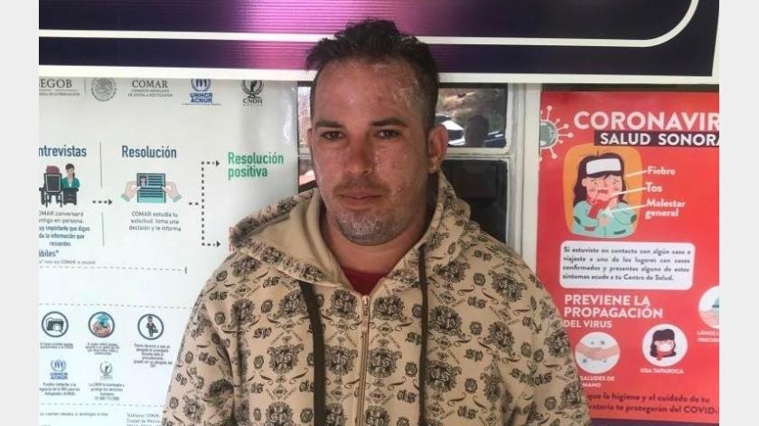 El cubano Donny Manuel Herrera, de 30 años de edad, es una de las personas contagiadas de varicela.