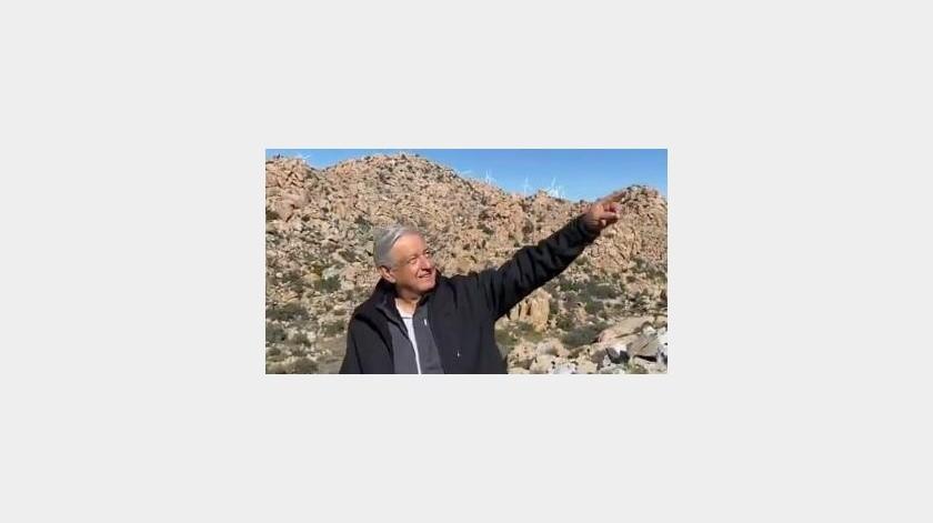 """Afectan """"ventiladores"""" paisaje de La Rumorosa, señala mandatario(Tomada de la Red)"""