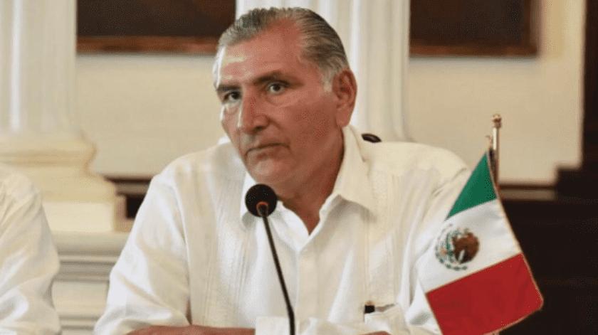 El gobernador de Tabasco, Adán Augusto López, resultó positivo a la prueba de coronavirus.(Twitter)