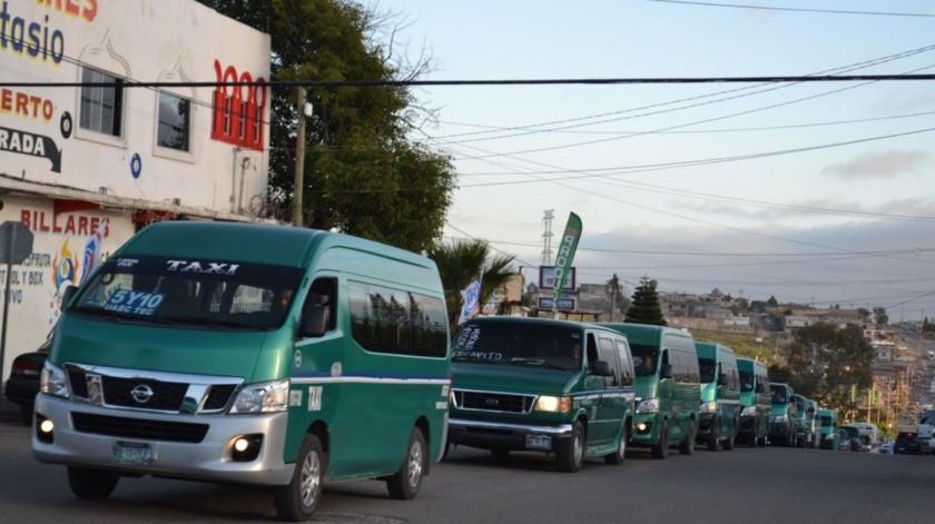 Reducirán unidades de transporte público 50% en Rosarito.(Tomada de la red)