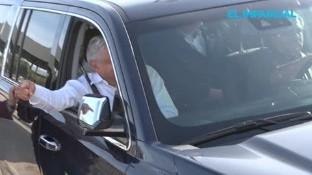 El presidente de la república, Andrés Manuel López Obrador, llegó a Mexicali para supervisar una de las obras que ha emprendido en 15 ciudades, con el fin de abatir desventaja social, además de recibir una serie de peticiones por diversas problemáticas.