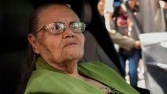 Loera Pérez, de 91 años de edad, este domingo sostuvo un breve encuentro con el presidente Andrés Manuel López Obrador.