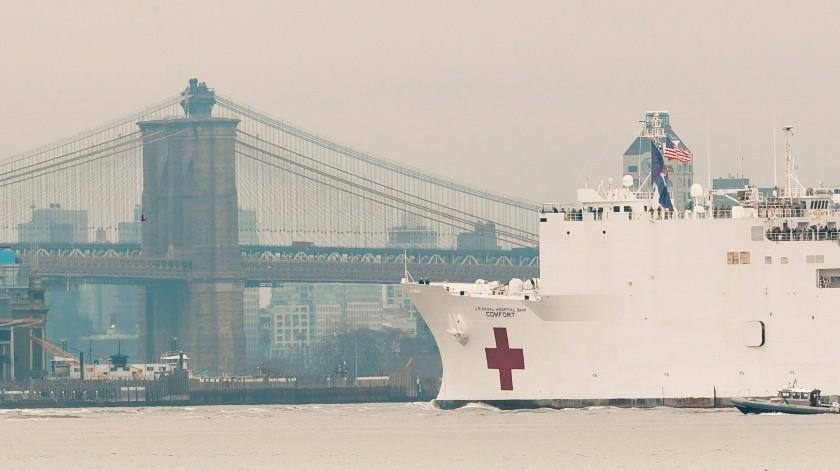 Buque hospital USNS Confort de las Fuerzas Armadas de EE.UU.(EFE, EPA)