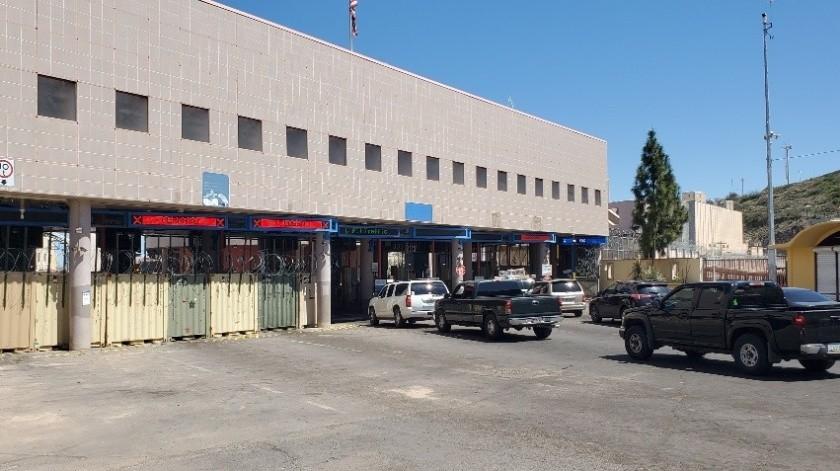 Aduana de México cierra el cruce Morley en Nogales, Sonora(Rubén Ruiz)