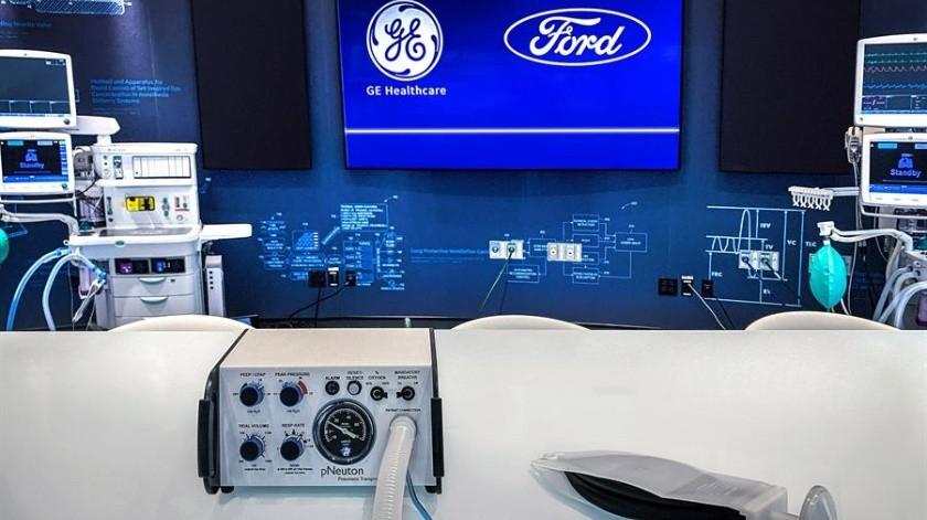 Ford y GE Healthcare producirán 50 mil respiradores para pacientes con Covid-19(EFE)