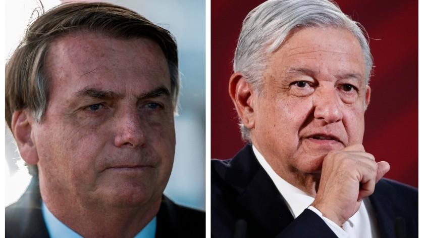 Jair Bolsonaro y Andrés Manuel López Obrador(Gobierno de México)
