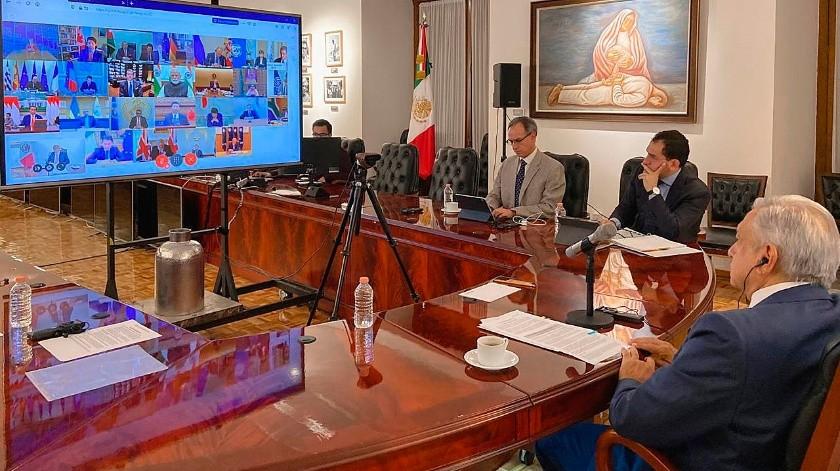El pasado 23 de marzo los titulares de Economía y gobernadores de Bancos Centrales de las principales economías y países emergentes del mundo ya se habían reunido.(EFE, Presidencia de M�xico)