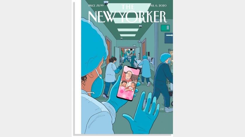 The New Yorker dedica su portada al personal médico.(EFE)