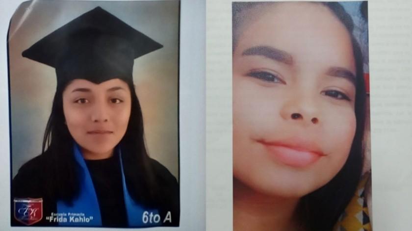 Araceli Rosa Reyes Morales de 12 años y a Michelle Nayeli Velarde Gámez de 13 años de edad.Araceli Rosa Reyes Morales de 12 años y a Michelle Nayeli Velarde Gámez de 13 años de edad.(Cortesía)