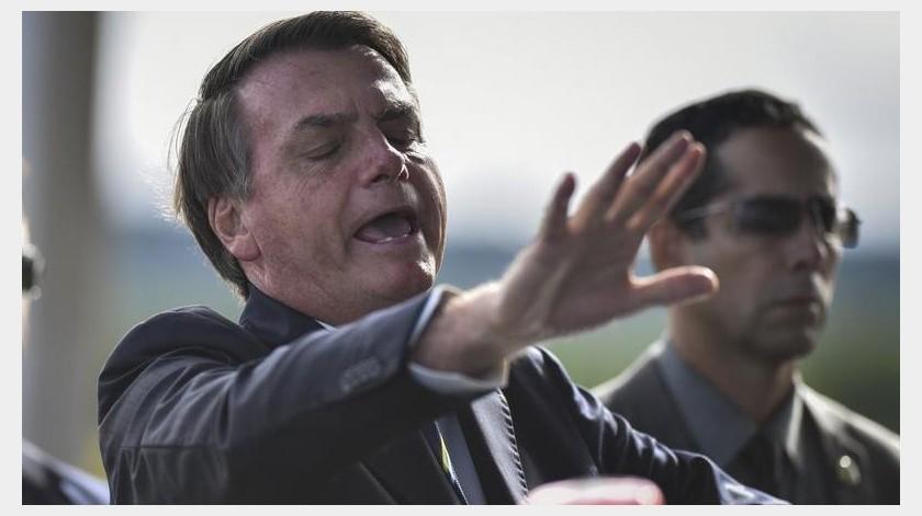 Bolsonaro ha sido criticado por desestimar la gravedad del COVID-19.(EFE)