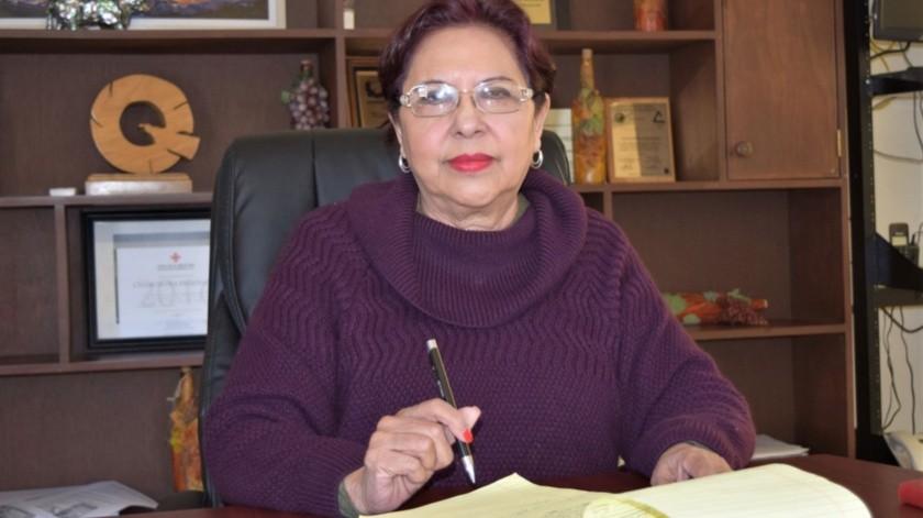 Amalia Vizcarra Berumen, presidenta de Canacintra Ensenada.(Cortesía)