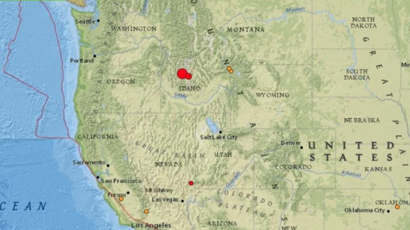 Sismo magnitud 6,5 sacude Idaho, EU(USGS)
