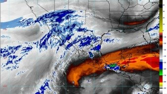 Un canal de baja presión en el sureste del país ocasionará lluvias fuertes con descargas eléctricas y granizo en Chiapas y Oaxaca.