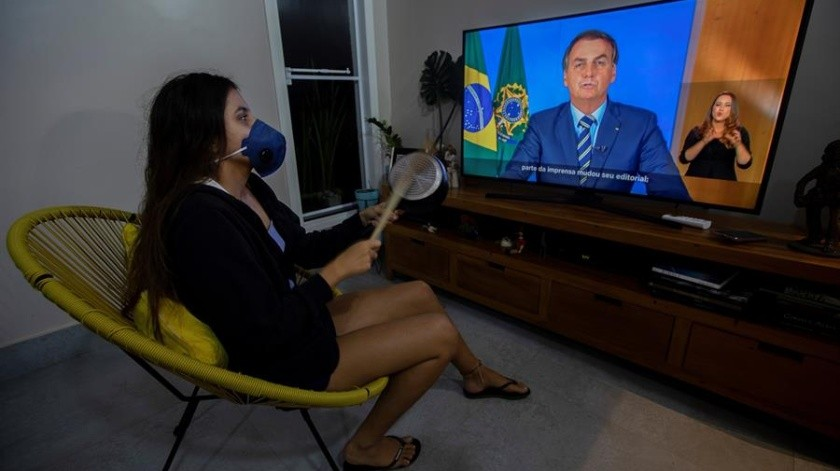 Jair Bolsonaro cambia su postura ante el coronavirus y anuncia medidas.(EFE)