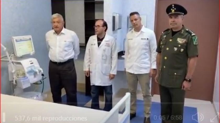 En su conferencia de prensa de esta mañana, López Obrador adelantó que no podría estar con los pobladores y que llegaría directo al hospital rural.