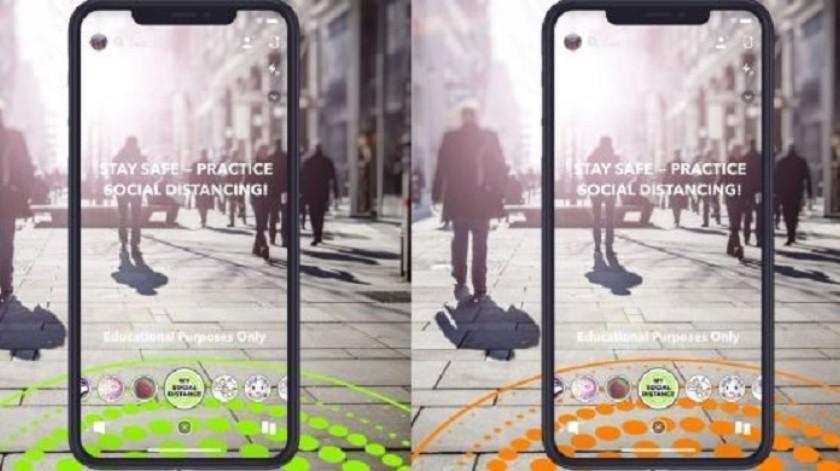 Snapchat agrega un círculo virtual para 'la sana distancia'(Shutterstock)