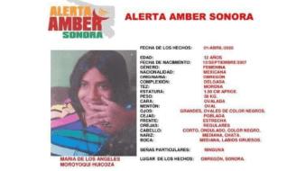 Activan Alerta Amber por la desaparición de María de los Ángeles en Obregón
