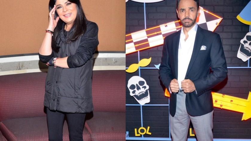 Victoria Ruffo y Eugenio Derbez.(Agencia México)