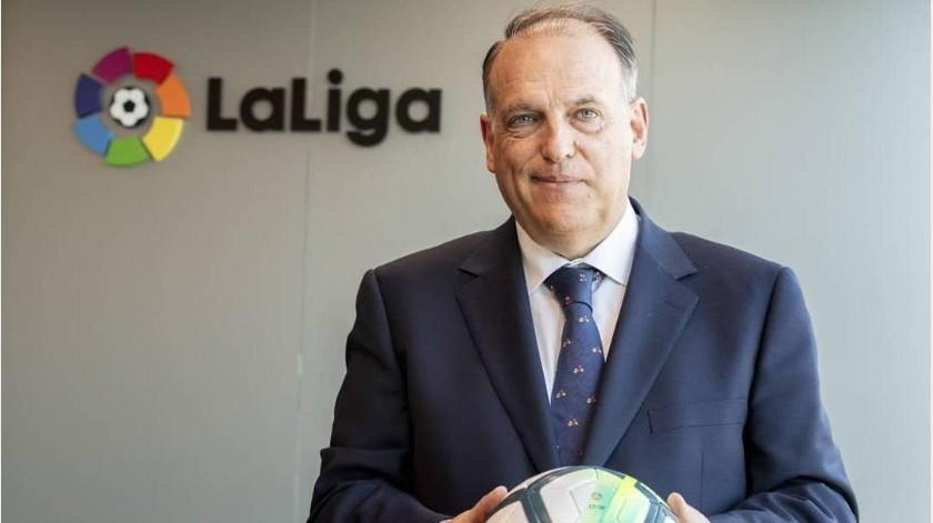 LaLiga invita a equipos a reducir salarios de su personal y jugadores por la pandemia(Instagram @javier.tebas)