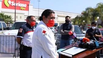 Instala Cruz Roja filtro de sanidad en Zona Río