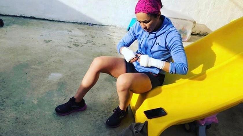 Jackie Nava entrena en casa.(Instagram)