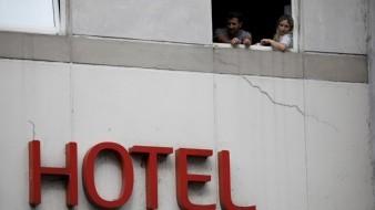 Algunos pasan la cuarentena en hoteles porque se encontraban de viaje.