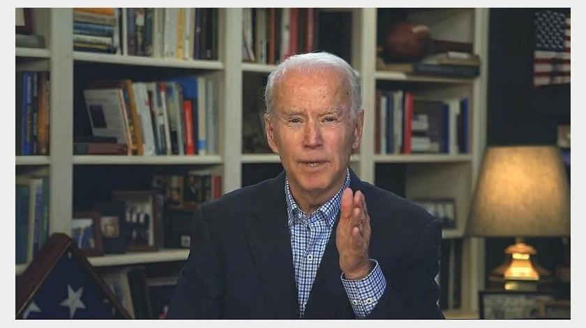 La Convención Nacional Demócrata podría realizarse por Internet, explicó Biden.(AP)