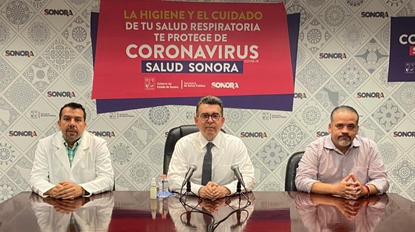 Conferencia de prensa sobre coronavirus en Sonora