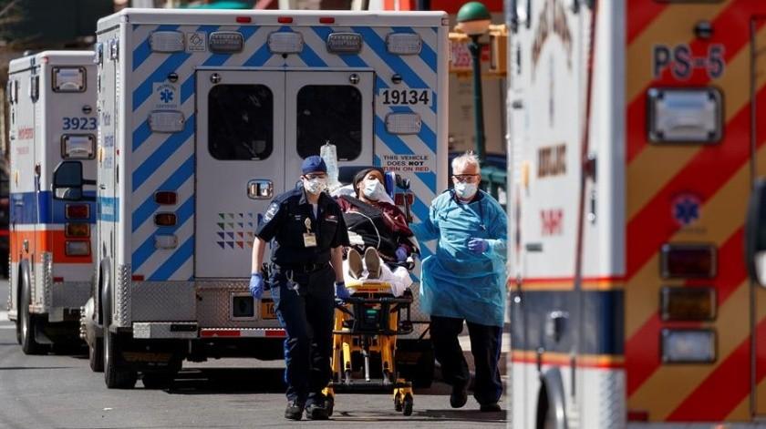 Estados Unidos registra 10 mil 335 fallecimientos y casi 350 milinfectados.(EFE)