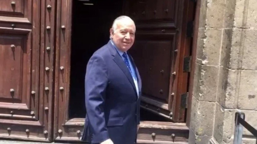 Valentino Díez, presidente del Comce, a su llegada a Palacio Nacional.(El Universal)