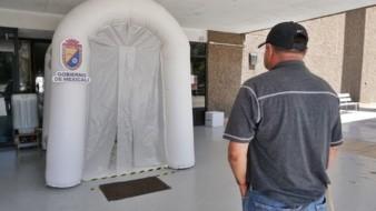 Instalan en Mexicali primer túnel sanitizante en edificio del Ayuntamiento
