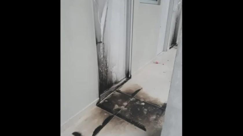 Intentan incendiar hospital que atenderá a pacientes con Covid-19 en Nuevo León(Facebook)