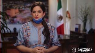 La alcaldesa de Hermosillo, Célida López, invita a la gente a usar cubrebocas y elaborarlos en casa para evitar contagios por COVID-19.