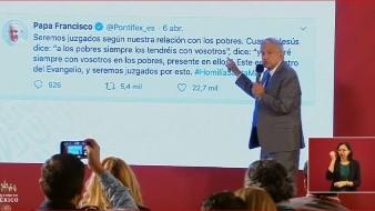El presidente López Obrador refirió ese mensaje luego de que ayer -dijo- leyó una declaración de un dirigente o representante empresarial de que su gobierno y su plan solo se ocupa a los pobres.