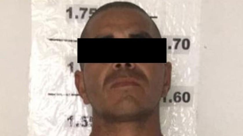 """El detenido está identificado como Alfredo """"N"""", 33 años de edad,(Cortesía)"""