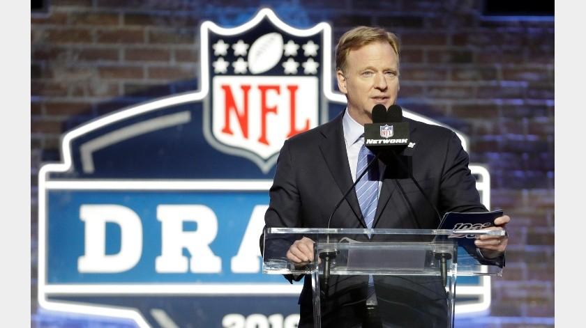 Draft de la NFL se hará virtual, anunció Roger Goodell.(Archivo Digital)