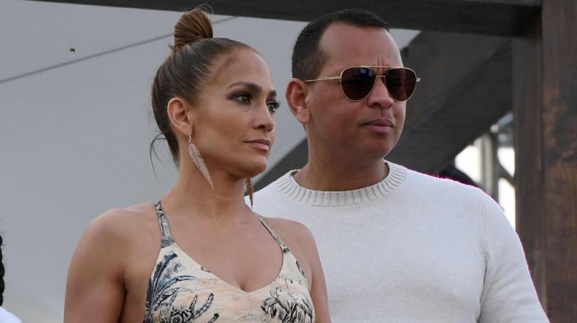 Jennifer López y Alex Rodríguez.(Internet)