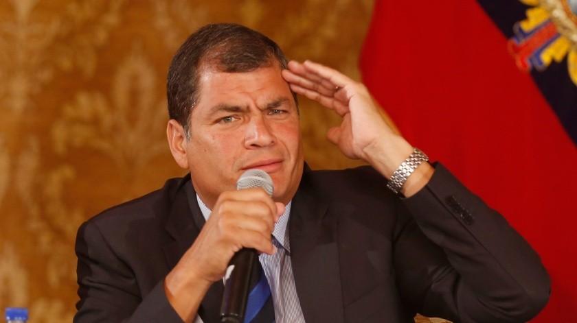El ex presidente de Ecuador Rafael Correa ha sido condenado este martes a ocho años de cárcel.(AP)