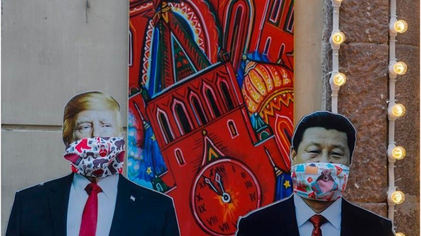 """""""Cuando se asiente el polvo de la pandemia, veremos que China emerge como el actor más poderoso en la escena mundial"""", por encima de unos Estados Unidos y una Unión Europea(EFE)"""