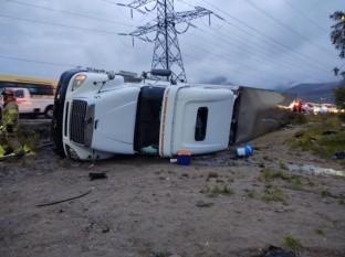 El conductor de la unidad no sufrió lesiones de gravedad.