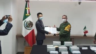 Huawei entrega donación de cubrebocas a Sedena por Covid-19