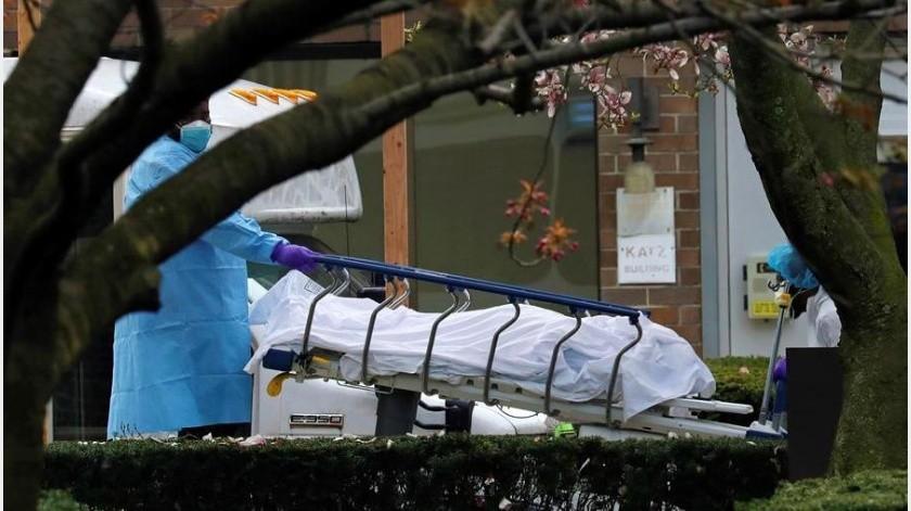Estados Unidos superó este miércoles a España como el segundo país del mundo con más fallecidos por COVID-19 con 14.817(EFE)