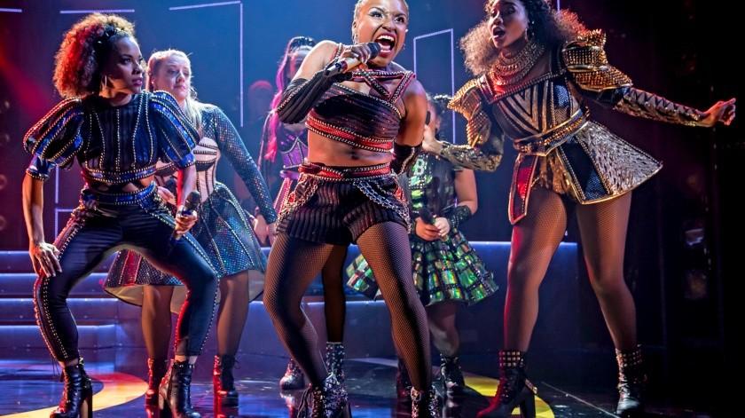"""Brittney Mack durante una función del musical de Broadway """"Six"""".(AP)"""