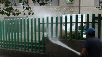 Quitan túnel sanitizante del Hospital General de Tlalnepantla