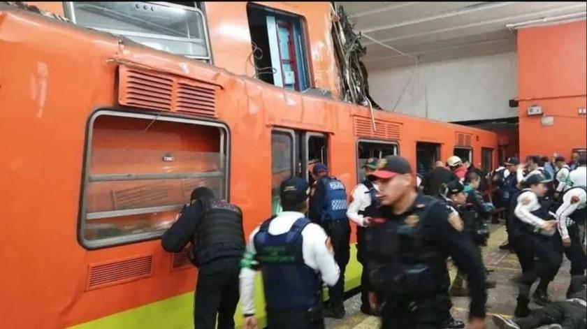 Detienen a conductor y reguladora de Metro por choque en Tacubaya(Conductor y reguladora del Metro de CDMX imputados por homicidio culposo por choque en Tacubaya que dejó un muerto y varios heridos. | Archivo.)